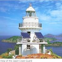 منارة جزيرة أوغامي في ناغاساكي تزود بالطاقة من الخلايا الشمسية اليابانية
