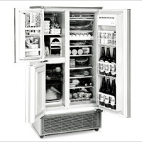 Three-Door Refrigerator with Separate Vegetable Compartment <SJ>