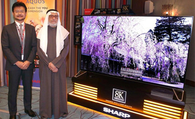 8K Resolution TV Launch in Kuwait and Saudi Arabia. 22nd February in Kuwait and 9th March in Saudi Arabia