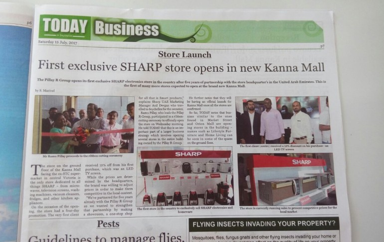 Sharp Showroom Inauguration in Seychelles